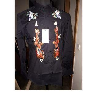 NEW GUCCI men BLACK shirt